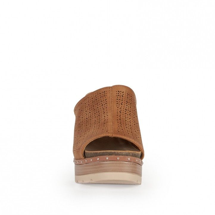 Sandalias tacón Owel con pala perforada - Querol online