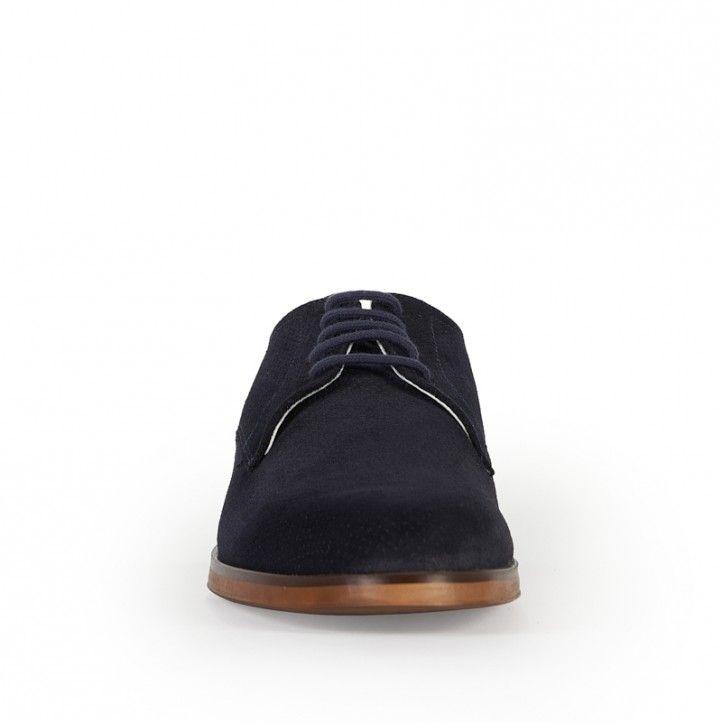 Sabates vestir Be Cool blau fosc amb cordons - Querol online