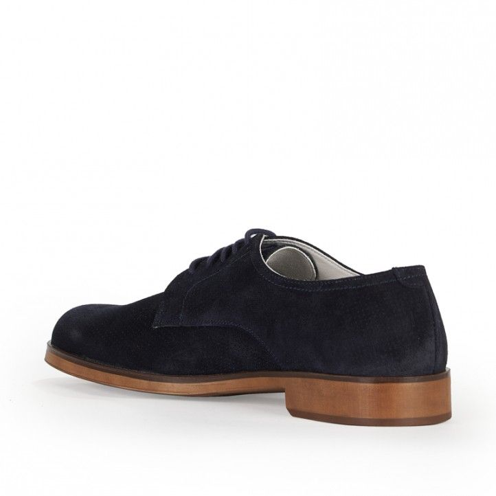 Zapatos vestir Be Cool azul oscuro con cordones - Querol online