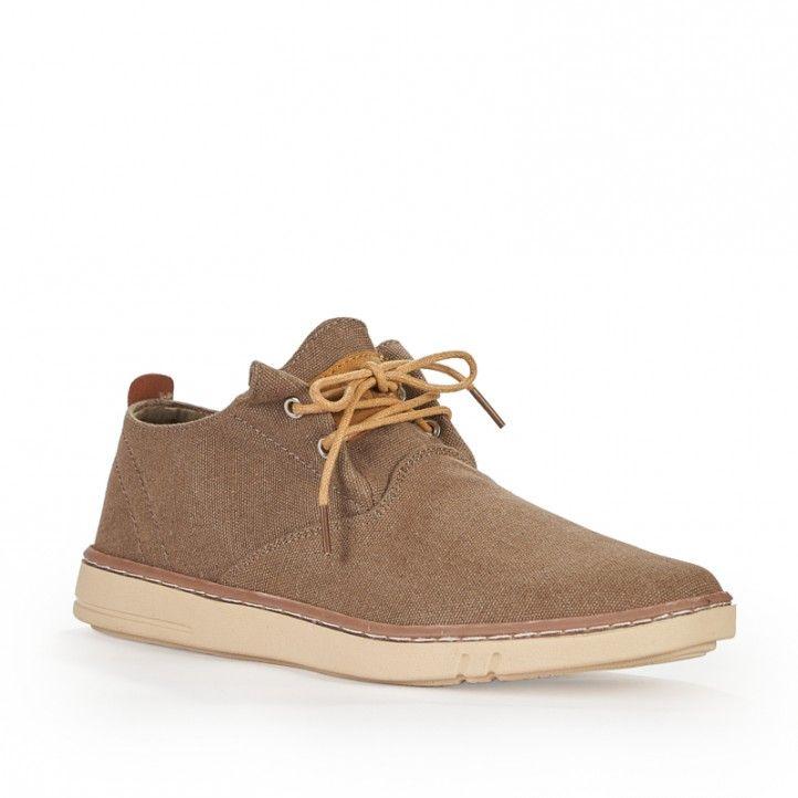 Zapatos sport Sweden Klë de lona marrón con cordones - Querol online