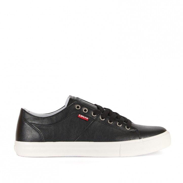 Zapatos sport Levi's negro con cordones en negro - Querol online
