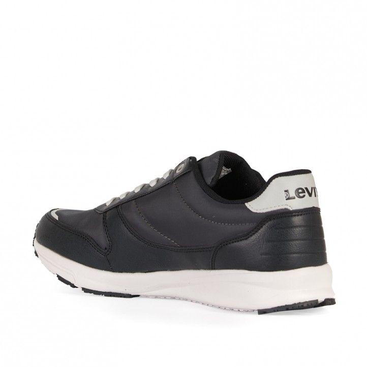 Zapatos sport Levi's negros con detalles en blanco - Querol online
