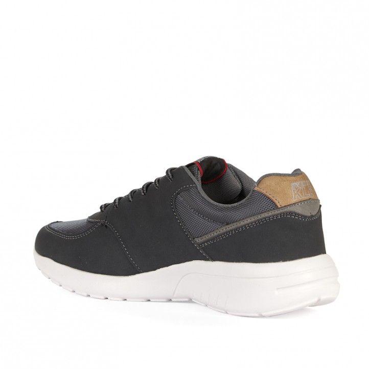 Zapatos sport Sweden Klë negros con detalles de textiles - Querol online
