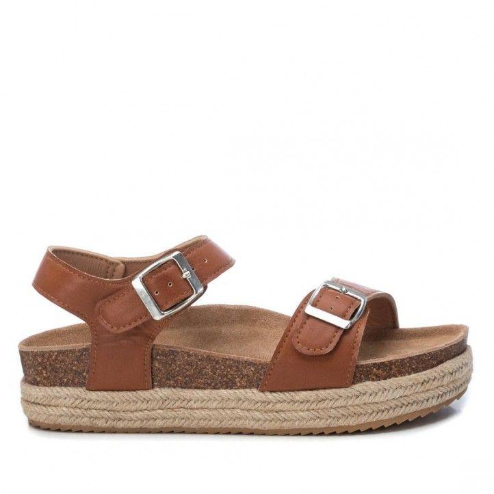 Sandàlies plataformes Owel 03430401 marrons amb plataforma - Querol online