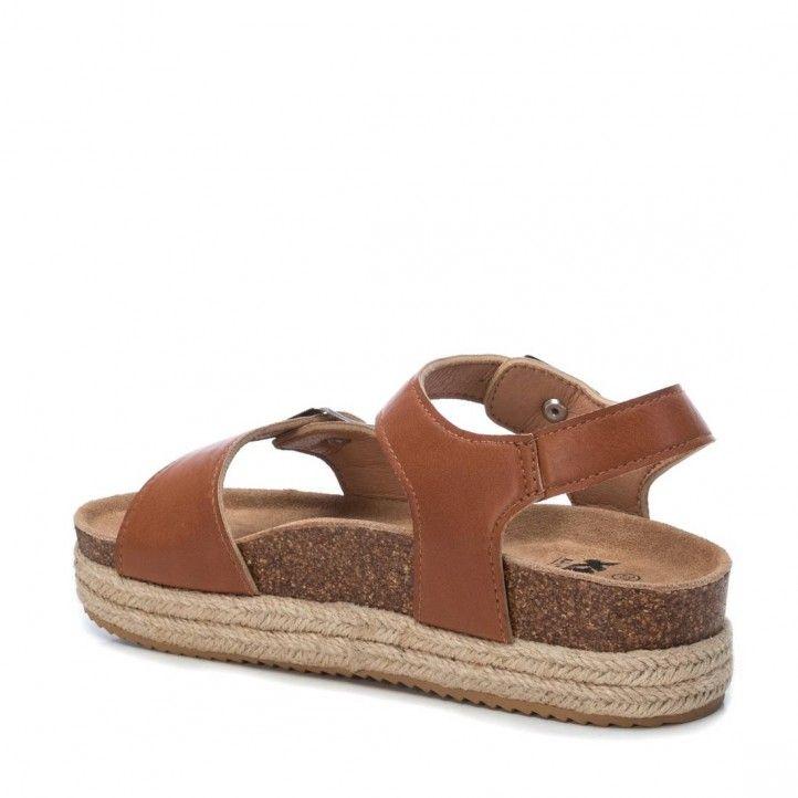 Sandalias plataformas Owel 03430401 marrones con plataforma - Querol online