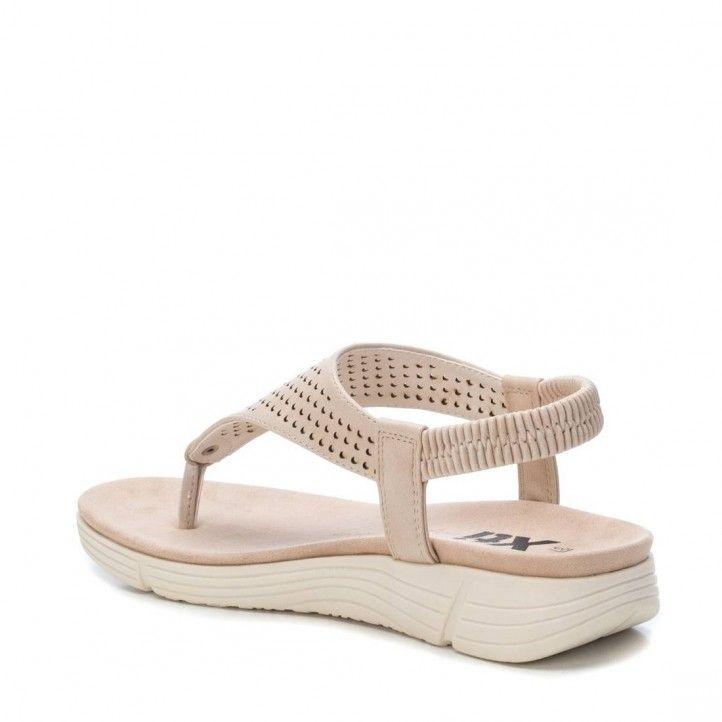 Sandalias planas Xti beige con un poco de cuña - Querol online
