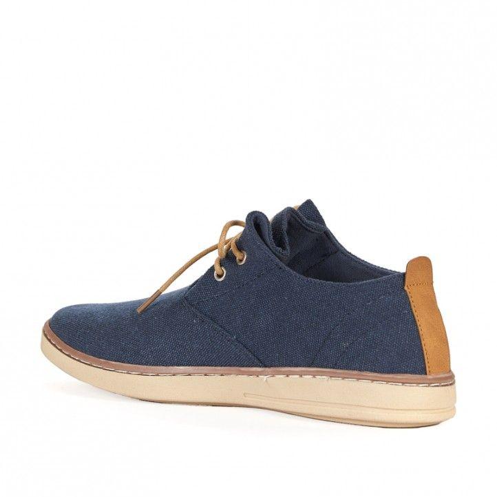 Zapatos sport Sweden Klë de lona azules con cordones - Querol online