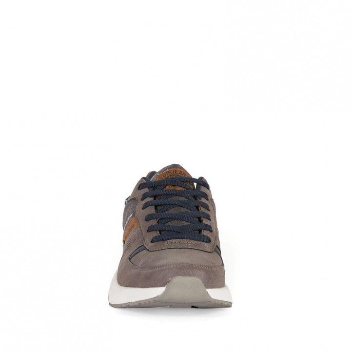 Zapatos sport Lois grises con partes marrones - Querol online