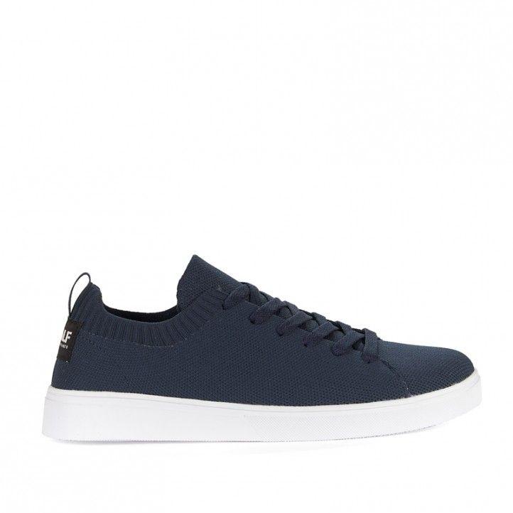 Zapatillas lona ECOALF azules con suela blanca - Querol online