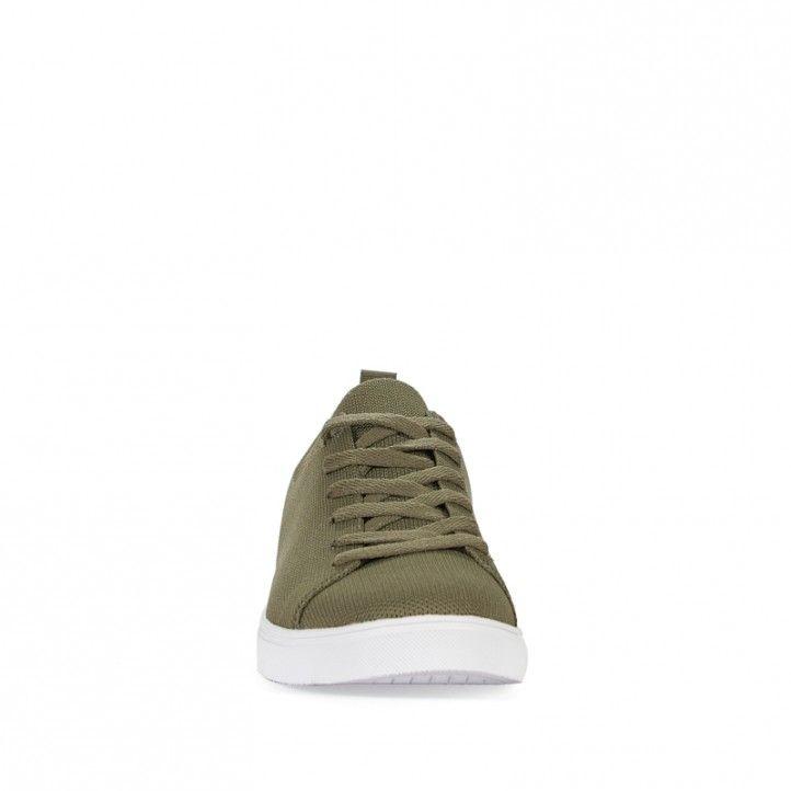 Zapatillas lona ECOALF verdes con suela blanca - Querol online