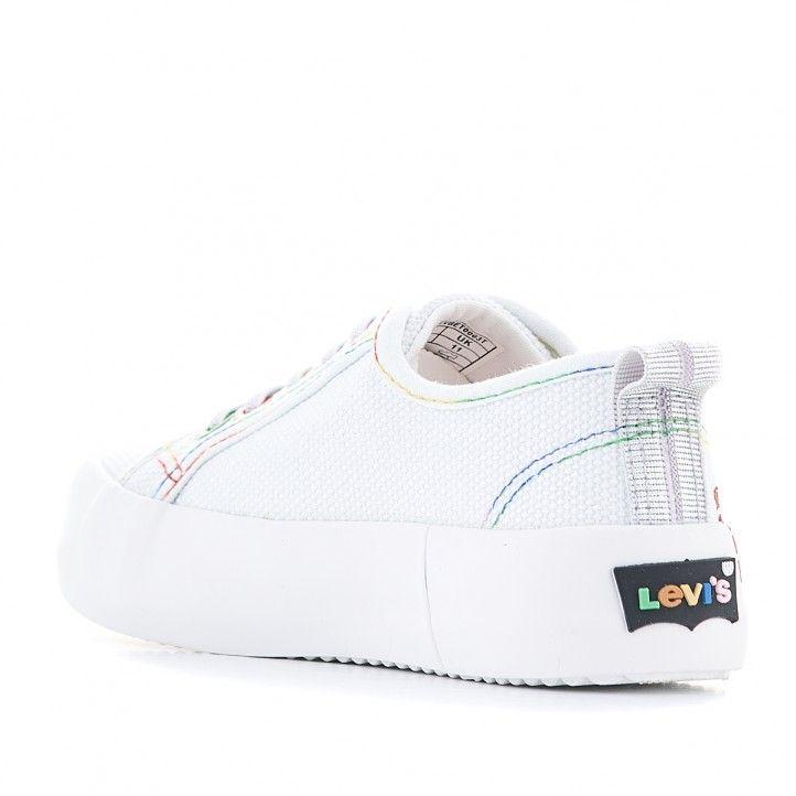 Zapatillas lona Levi's Kids blancas con letras de colores - Querol online
