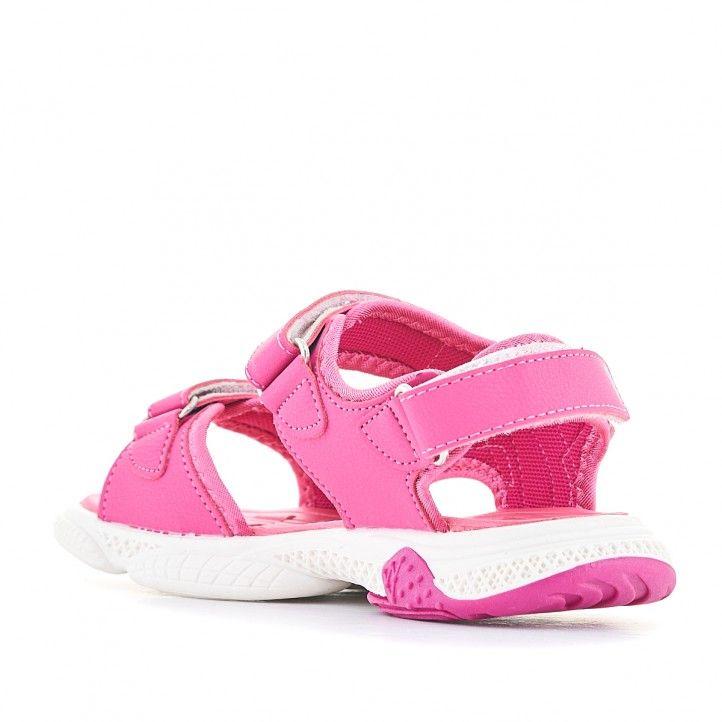 sandàlies QUETS! rosa con detalles azules - Querol online