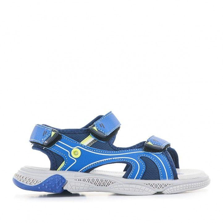 sandàlies QUETS! blaves amb parts grogues - Querol online