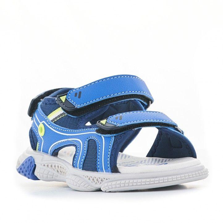 sandalias QUETS! azules con partes amarillas - Querol online