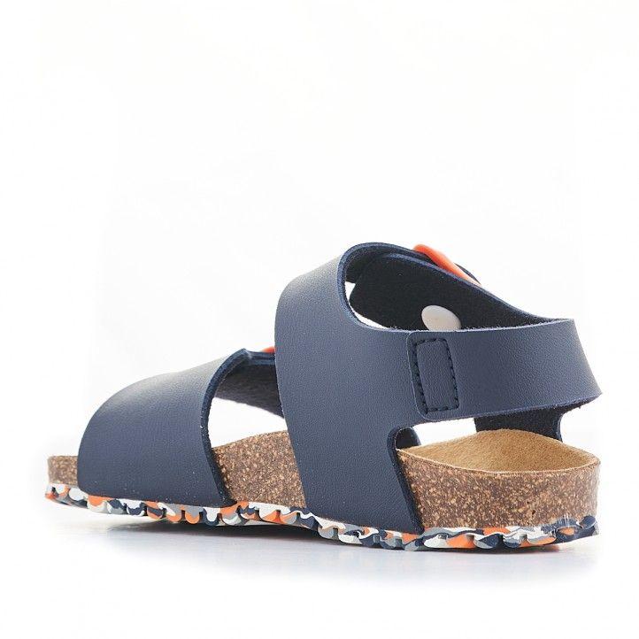 sandàlies GARVALIN blaves fosc amb sivella taronja - Querol online