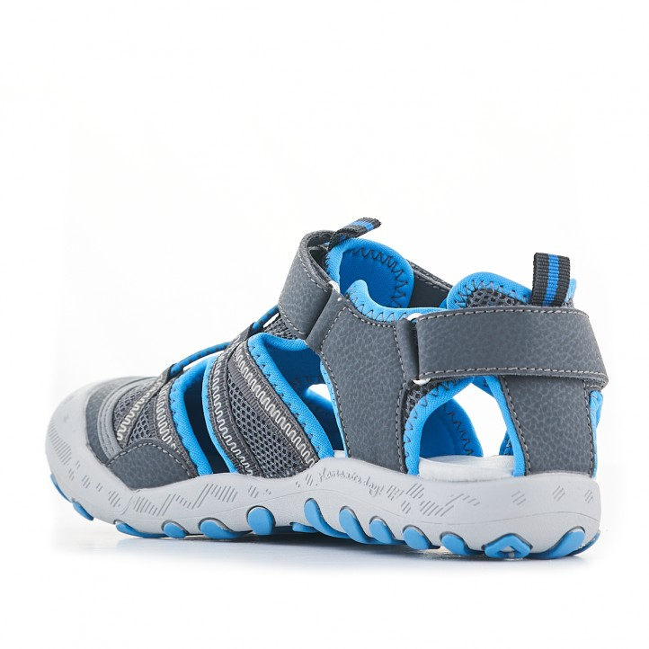 sandàlies Gioseppo grises i amb detalls en blau - Querol online