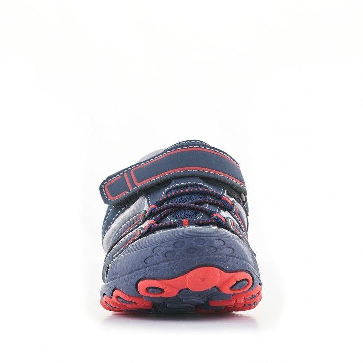 sandàlies QUETS! blaves amb detalls en vermell i interior blanc - Querol online