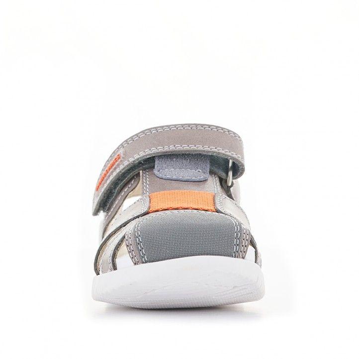 Sandàlies abotinades Biomecanics marrons i sola blanca - Querol online