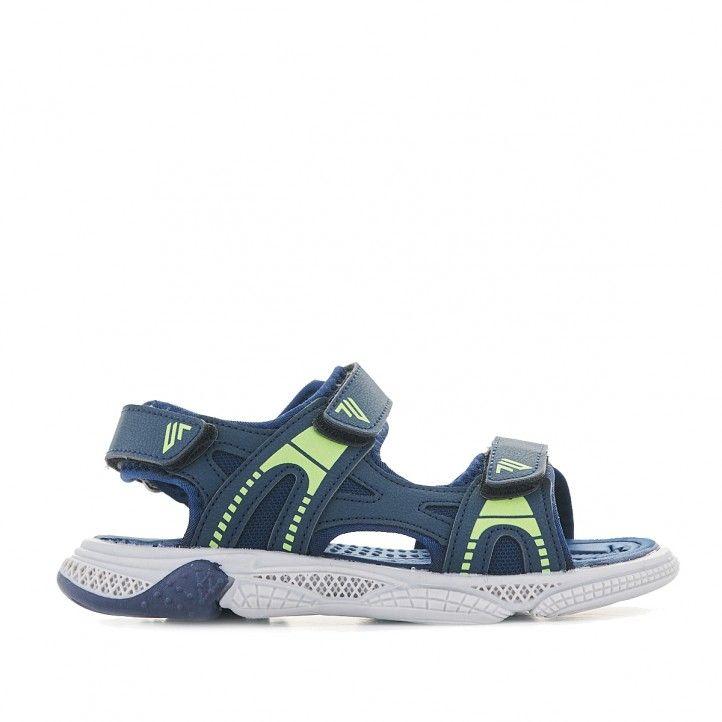 sandalias QUETS! azules marinos y verde - Querol online