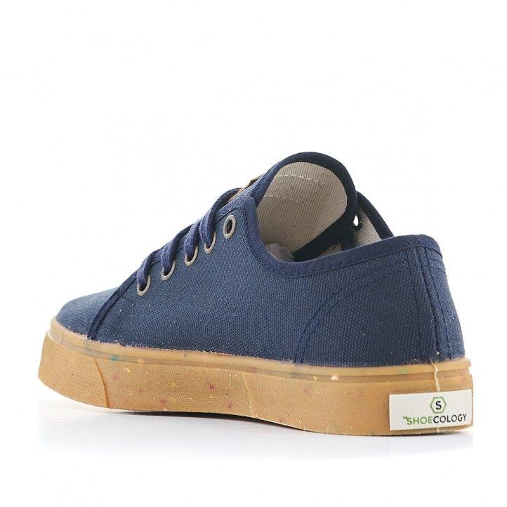 Zapatillas lona SHOECOLOGY azules y cordones - Querol online