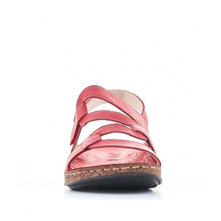 Sandàlies planes Walk & Fly vermelles amb tires en cadena - Querol online