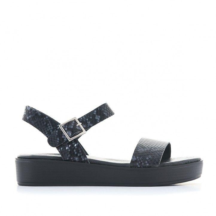 Sandàlies plataformes Redlove negres animal print - Querol online
