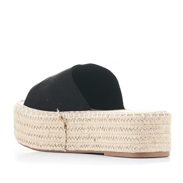 Sandàlies plataformes Owel negres amb gran pala i plataforma - Querol online