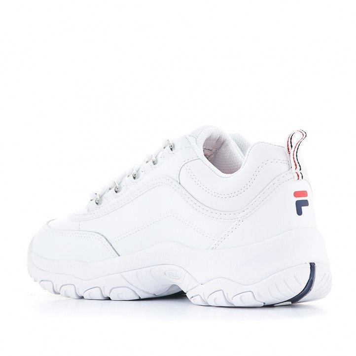 Zapatillas deportivas Fila blanca strada low con cordones - Querol online