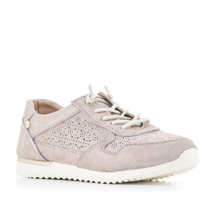 Zapatos planos Amarpies con reflejos metalizados - Querol online