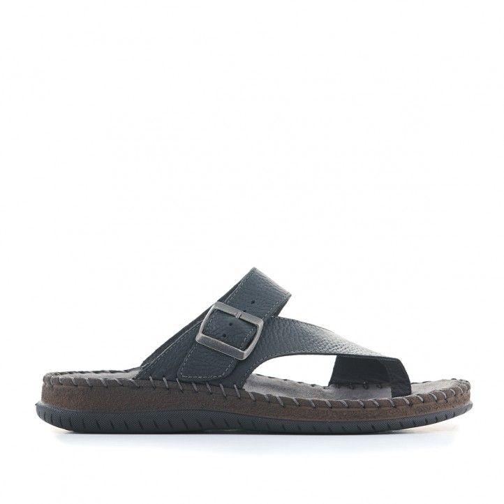 Sandàlies Walk & Fly negres de cuir - Querol online