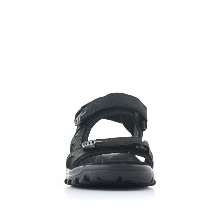 Sandàlies Vicmart negres de doble tira amb velcro - Querol online