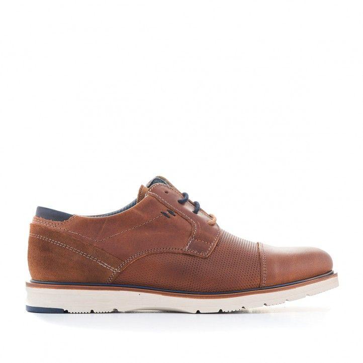Zapatos sport Lobo de piel marrones estilo clásico - Querol online