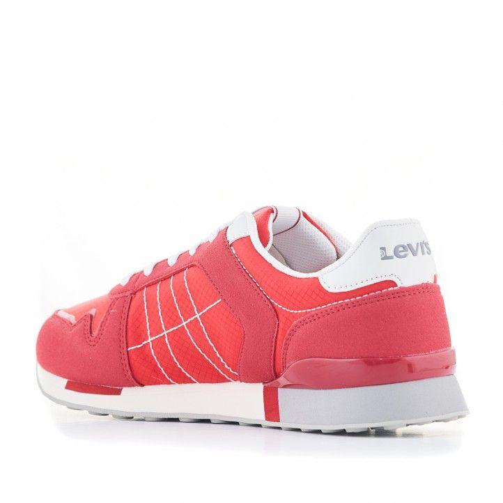 Zapatillas deportivas Levi's rojas con cordones blancos - Querol online