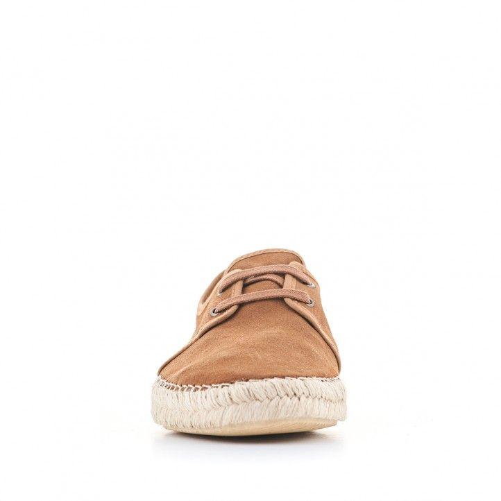 Zapatos sport Lobo de piel con suela de esparto - Querol online