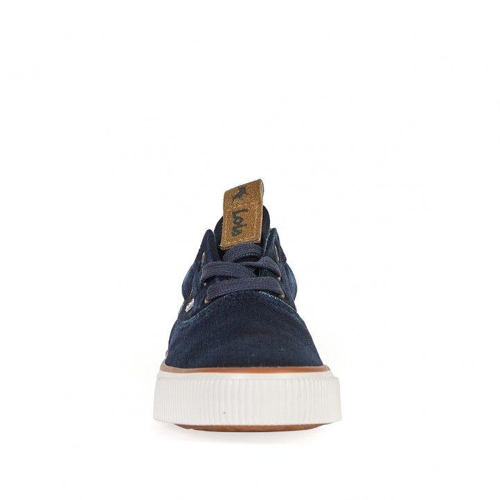 Zapatillas lona Lois tejano con cordones - Querol online