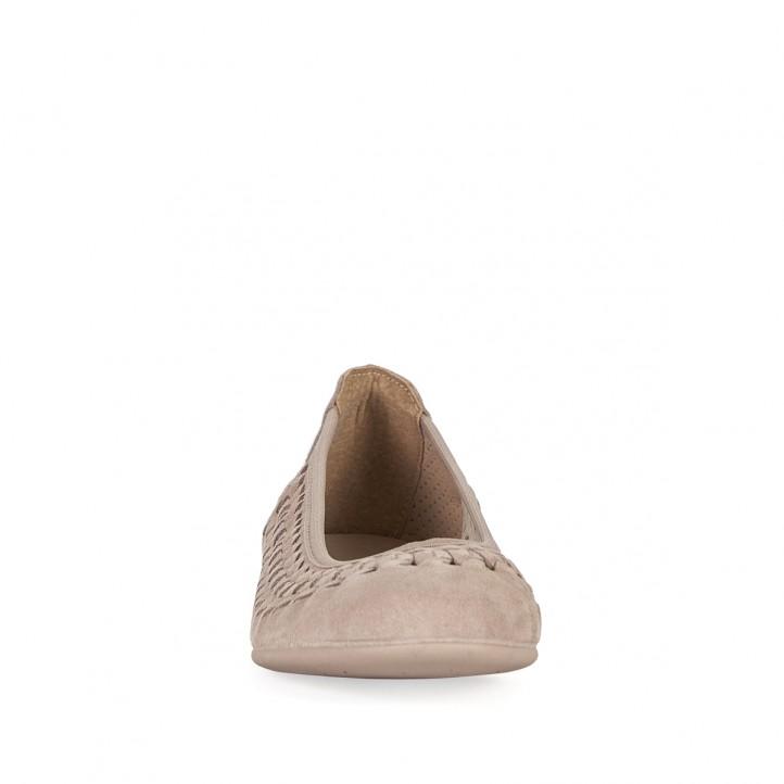 Bailarinas Vul·ladi beige perforadas - Querol online