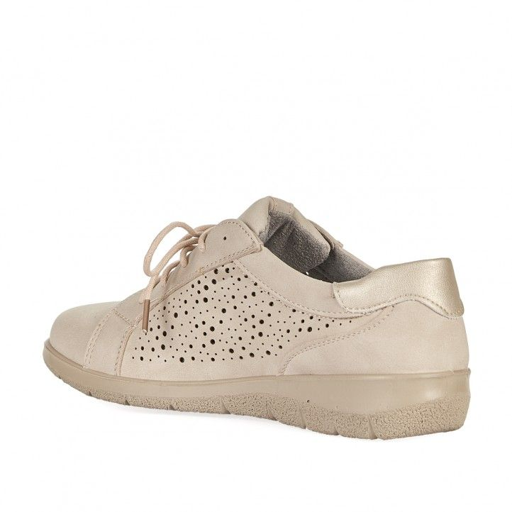 Zapatos planos You Too beige perforado - Querol online