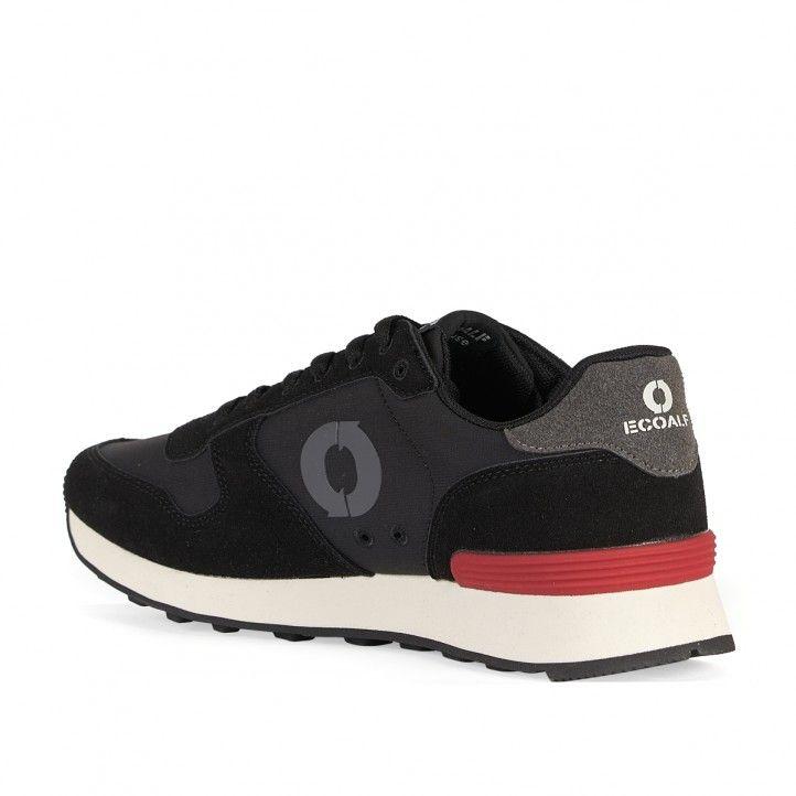Zapatillas deportivas ECOALF negras con partes grises - Querol online