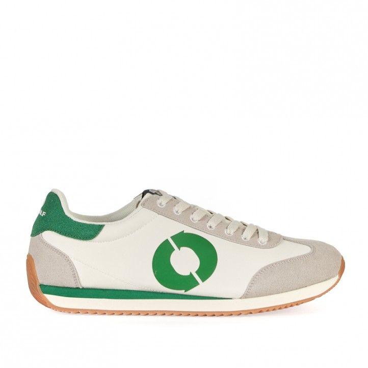 Zapatillas deportivas ECOALF blancas con detalles en breve - Querol online
