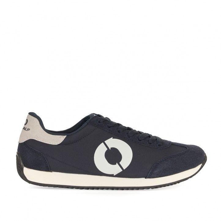 Zapatillas deportivas ECOALF azules marino con logo en blanco - Querol online