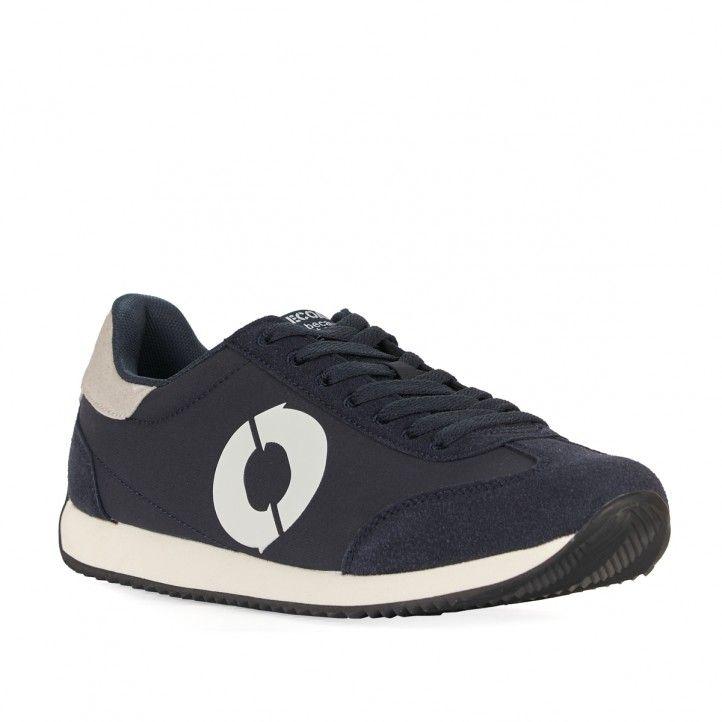 Sabatilles esportives ECOALF blau marí amb logo en blanc - Querol online