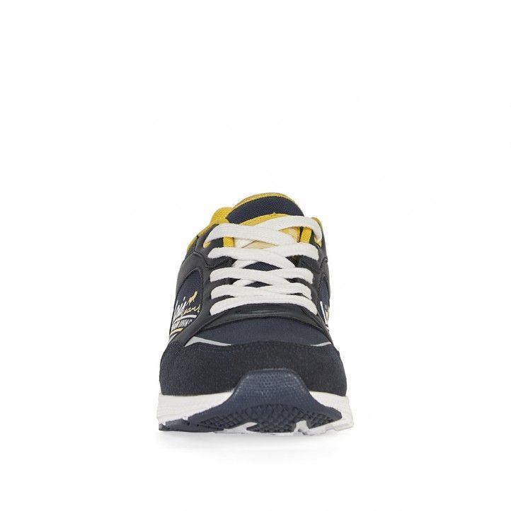 Sabatilles esport Lois blaves amb cordons en blanc i detalls en groc - Querol online