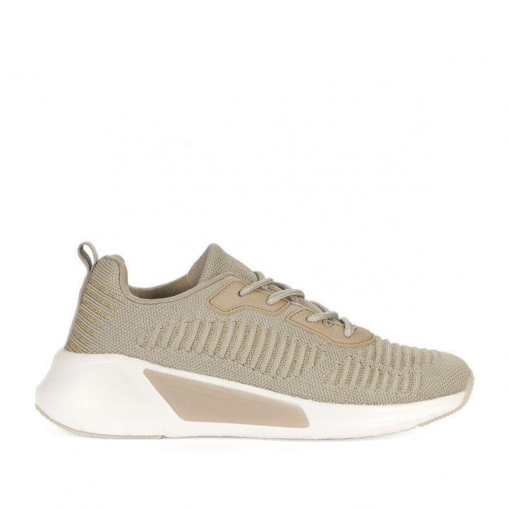 Zapatillas deportivas Owel de color crema - Querol online