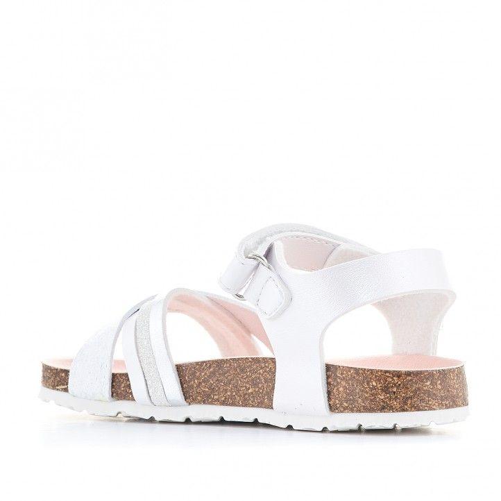 sandàlies Pablosky blanca i rosa agafada al turmell - Querol online