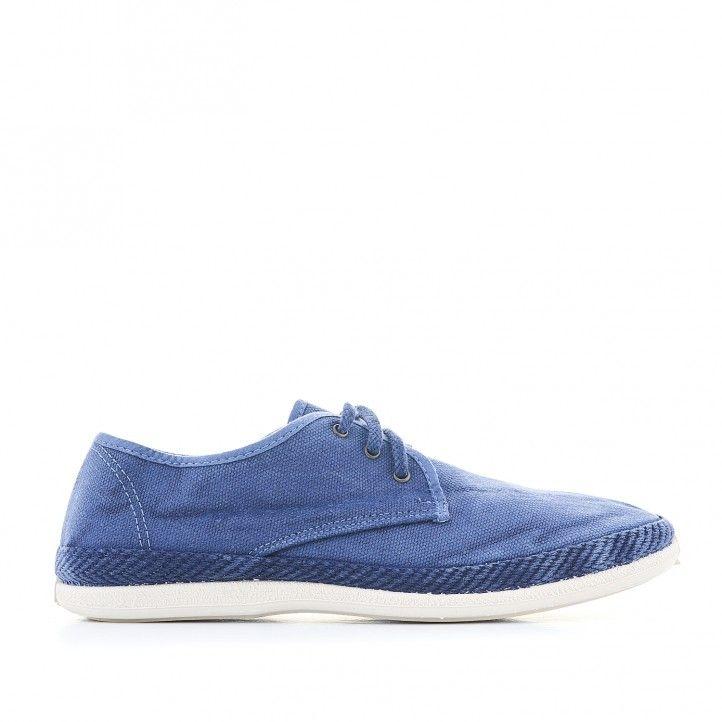Zapatillas lona Lobo de color azul - Querol online