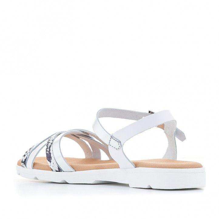 Sandàlies planes Suite009 amb tires blanques i animal print - Querol online