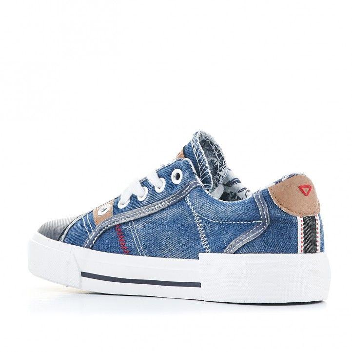 Zapatillas lona Lois denin azules - Querol online