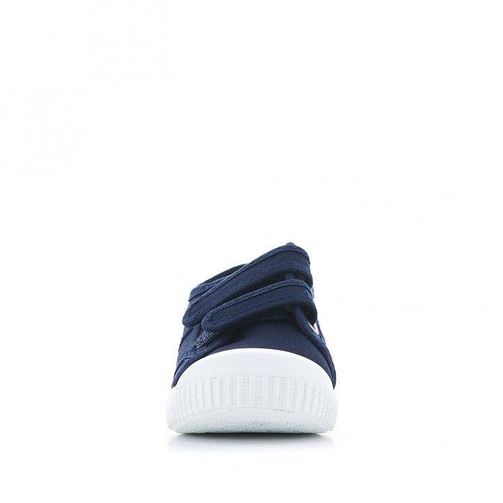 Zapatillas lona Victoria azules - Querol online