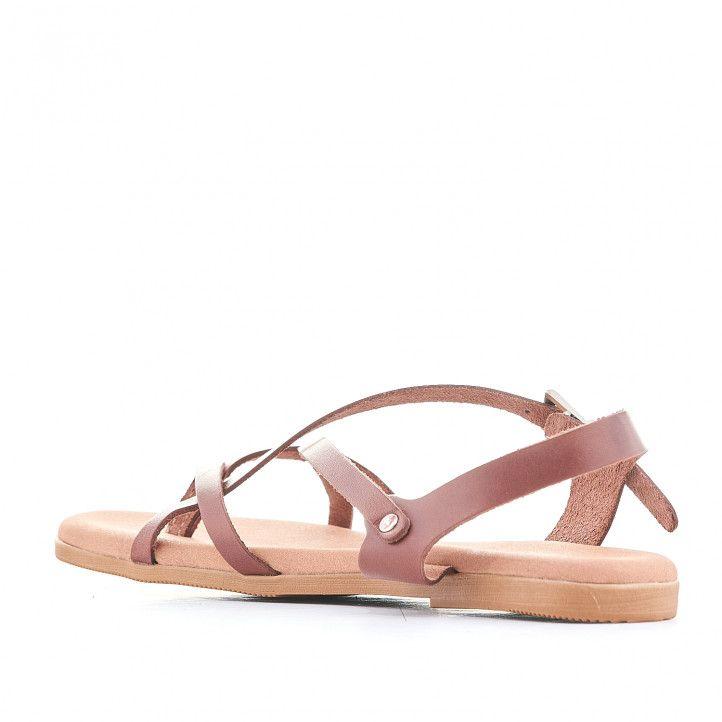 Sandàlies planes Suite009 marrons amb sivella lateral - Querol online