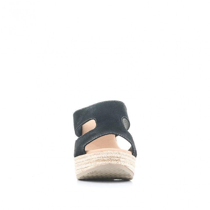 Sandalias tacón Redlove cogidas con doble banda negra - Querol online